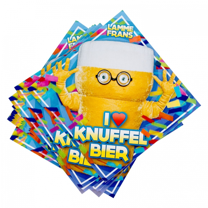 Knuffelbier Stickers (11x)